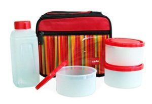 Cello-Go-4-Eat-Plastic-Container-Set-4-Pieces-Red