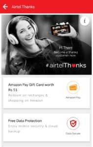 Airtel-amazon-card-thanks