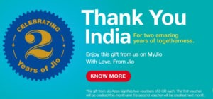 Jio celebration 2 years